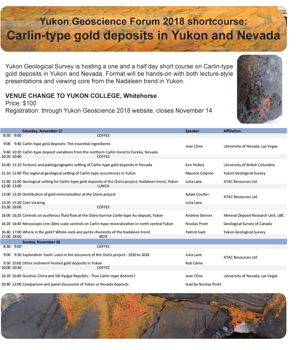 Carlin Type Deposits Short Course